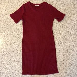 Zara red mini dress with short sleeves